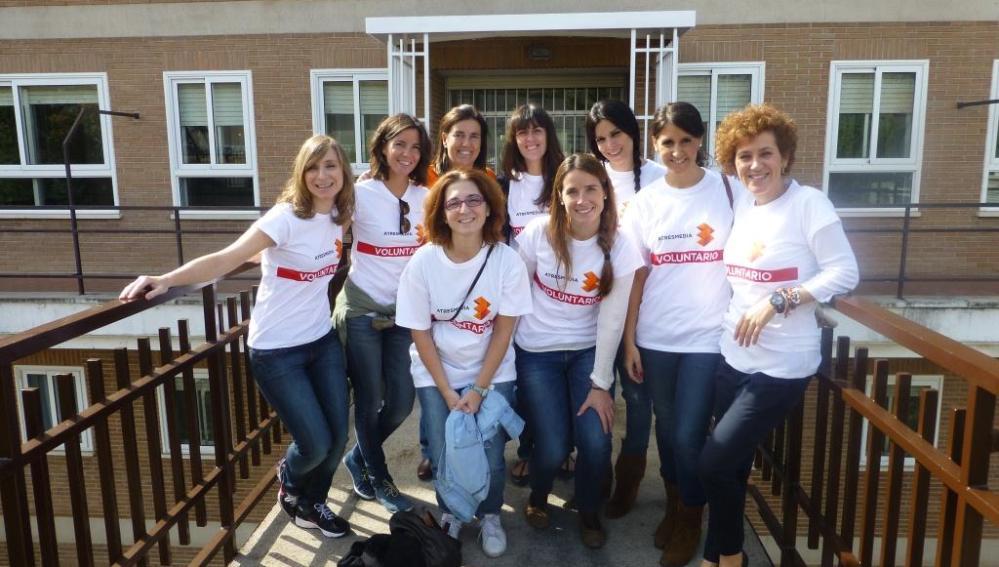 Voluntarios de Atresmedia en el Día Solidario de la Empresas 2013