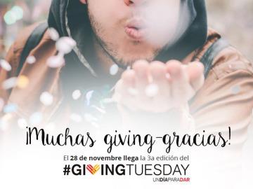 Únete a #GivingTuesday el 28 de noviembre, un día mundial para colaborar en acciones solidarias