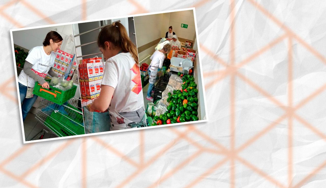 Super Voluntarios Atresmedia participan en la semana del Give & Gain ayudando en el Comedor Social Santa María Josefa