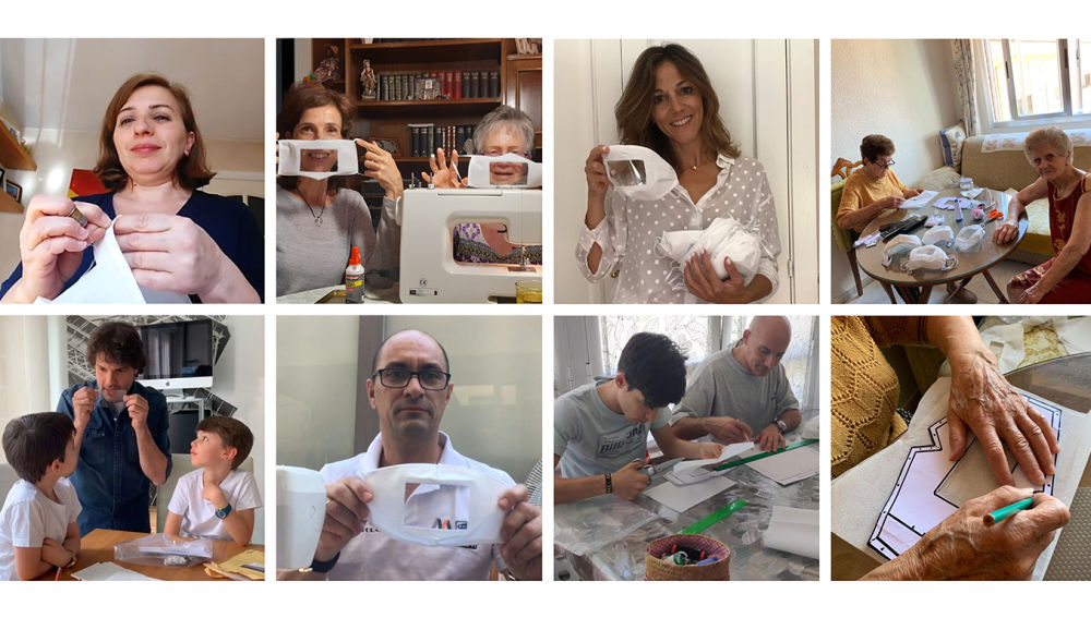 Realizamos 2.500 mascarillas transparentes para facilitar la comunicación de las personas sordas y su entorno