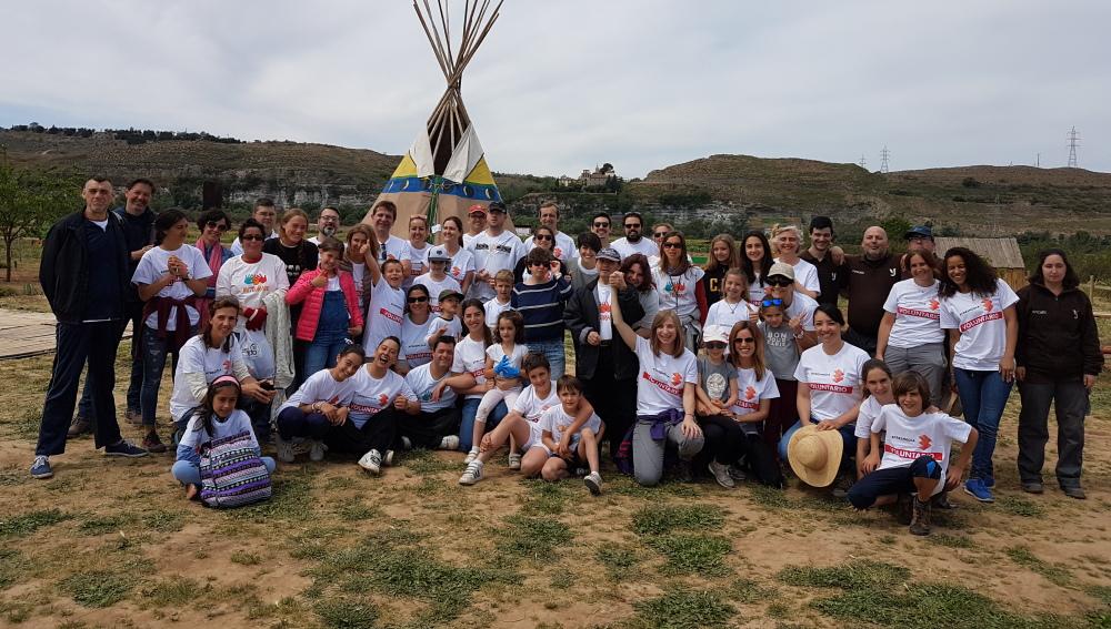 Más de 40 voluntarios de Atresmedia ayudan en la huerta ecológica de la Fundación Juan XXIII en la semana del Give & Gain