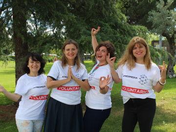 Nuestras voluntarias: Cristina, Asun, Alba y Sandra